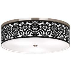 "Stacy Garcia Metropolitan Nickel 20 1/4"" Ceiling Light"