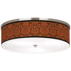 "Stacy Garcia Spice Florence Nickel 20 1/4"" Ceiling Light"