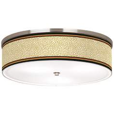 "Stacy Garcia Spice Dahlia Nickel 20 1/4"" Wide Ceiling Light"