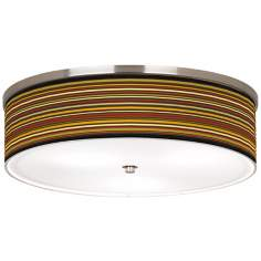 "Stacy Garcia Spice Stripe Nickel 20 1/4"" Wide Ceiling Light"