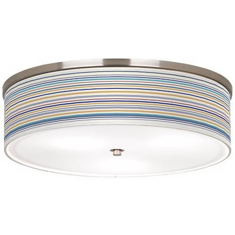 "Landscape Stripe Nickel 20 1/4"" Ceiling Light"