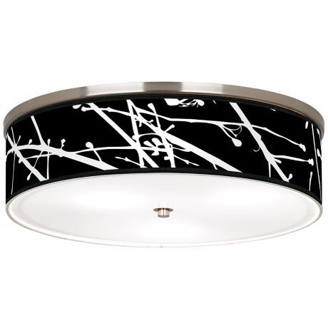 "Stacy Garcia Calligraphy Tree Black 20 1/4"" Ceiling Light"