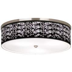 "Shimmer Nickel 20 1/4"" Wide Ceiling Light"