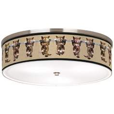 "Cool Cat Nickel 20 1/4"" Wide Ceiling Light"