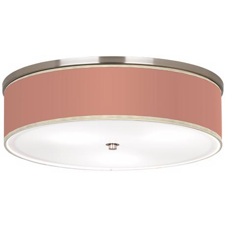 "Constant Coral Nickel 20 1/4"" Wide Ceiling Light"