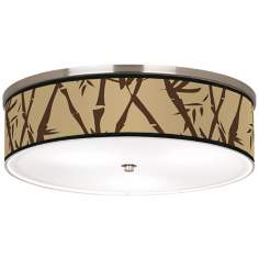"Earth Bamboo Nickel 20 1/4"" Wide Ceiling Light"