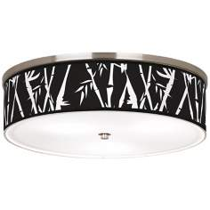 "Night Bamboo Nickel 20 1/4"" Wide Ceiling Light"