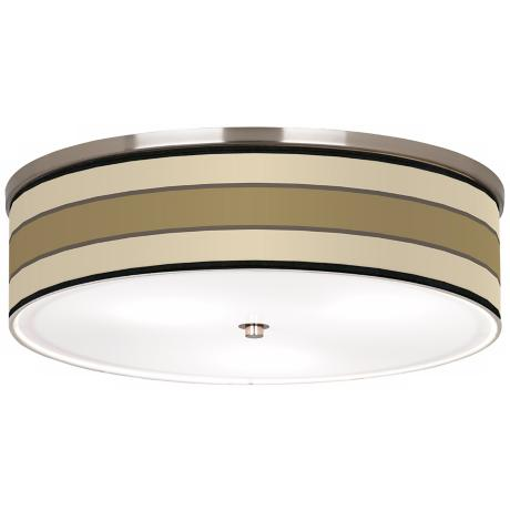"Tones of Beige Nickel 20 1/4"" Wide Ceiling Light"