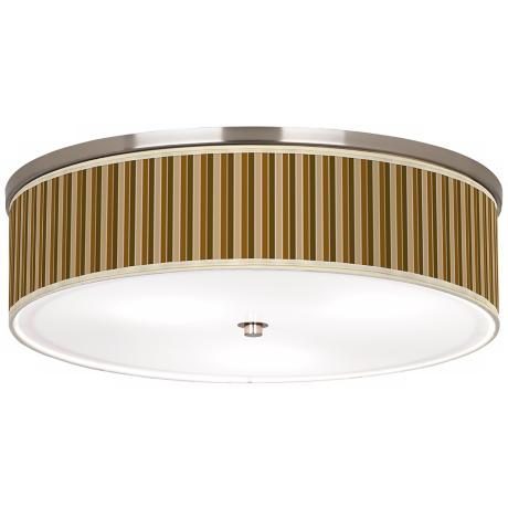 "Umber Stripes Nickel 20 1/4"" Wide Ceiling Light"