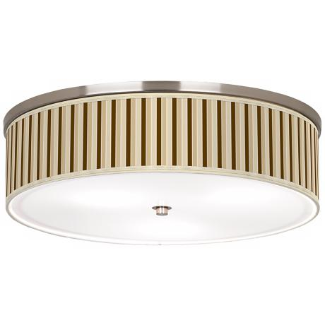 "Fawn Stripes Nickel 20 1/4"" Wide Ceiling Light"