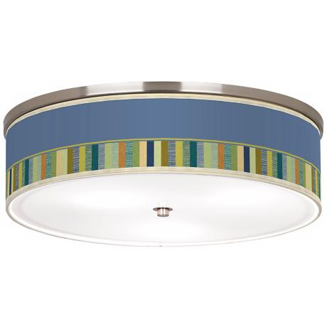 "Stacy Garcia Modern Palette Nickel 20 1/4"" Ceiling Light"