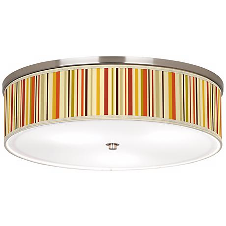 "Stacy Garcia Vertical Lem Nickel 20 1/4"" Ceiling Light"