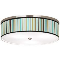 "Stacy Garcia Countess Ver Nickel 20 1/4"" Ceiling Light"