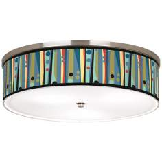 "Pastel Dots Vertical Nickel 20 1/4"" Wide Ceiling Light"