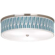 "Stacy Garcia Fancy Fern Peacock Nickel 20 1/4"" Ceiling Light"