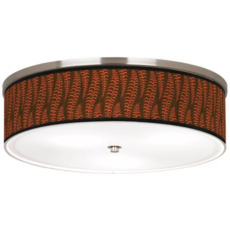 "Stacy Garcia Fancy Fern Coral Nickel 20 1/4"" Ceiling Light"