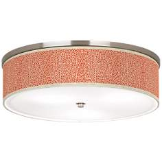 "Stacy Garcia Seafan Coral Nickel 20 1/4"" Ceiling Light"