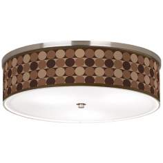 "Sienna Grey Circles Nickel 20 1/4"" Wide Ceiling Light"