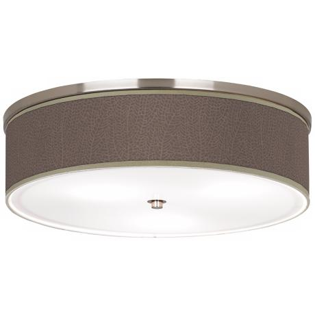 "Stacy Garcia Seafan Taupe Nickel 20 1/4"" Wide Ceiling Light"