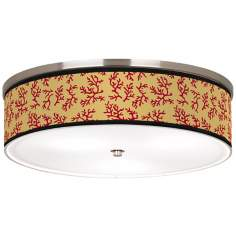 "Crimson Coral Nickel 20 1/4"" Wide Ceiling Light"