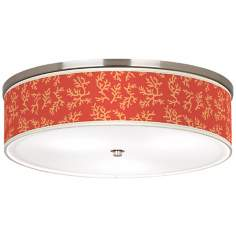 "Tangerine Coral Nickel 20 1/4"" Wide Ceiling Light"
