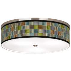 "Pixel City Nickel 20 1/4"" Wide Ceiling Light"