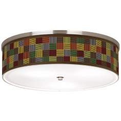 "Pixel Forest Nickel 20 1/4"" Wide Ceiling Light"