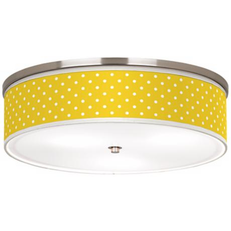 "Mini dots Yellow Nickel 20 1/4"" Wide Ceiling Light"