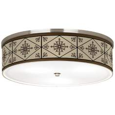 "Chambly Nickel 20 1/4"" Wide Ceiling Light"