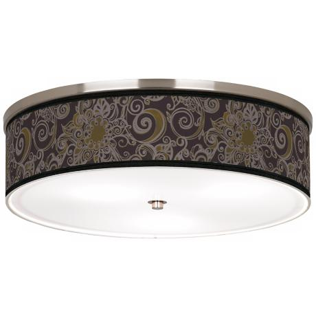 "Stacy Garcia Ornament Metal Nickel 20 1/4"" Ceiling Light"