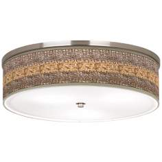 "Woven Fundamentals Nickel 20 1/4"" Wide Ceiling Light"