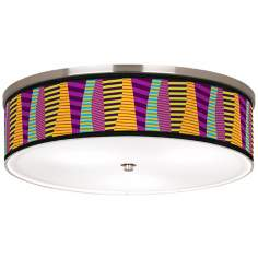 "Mambo Nickel 20 1/4"" Wide Ceiling Light"
