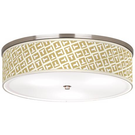 "Tee Tumble Nickel 20 1/4"" Wide Ceiling Light"