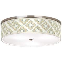 "Aster Ivory Nickel 20 1/4"" Wide Ceiling Light"