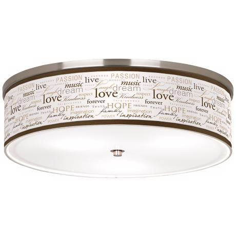 "Positivity Nickel 20 1/4"" Wide Ceiling Light"