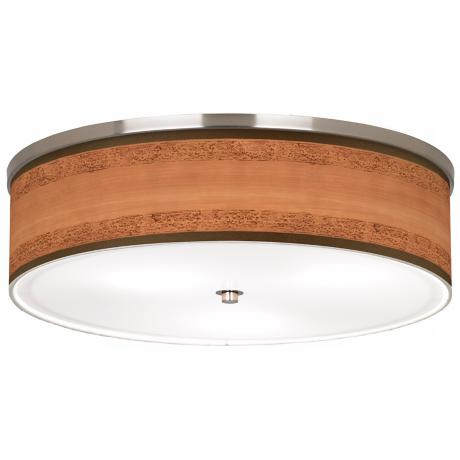 "Paisley Trim Giclee Nickel 20 1/4"" Wide Ceiling Light"