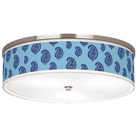 Paisley Rain Nickel Giclee Finish Energy Efficient Ceiling Light