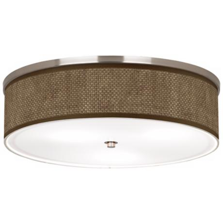 "Interweave Pattern Shade 20 1/4"" Wide Ceiling Light"