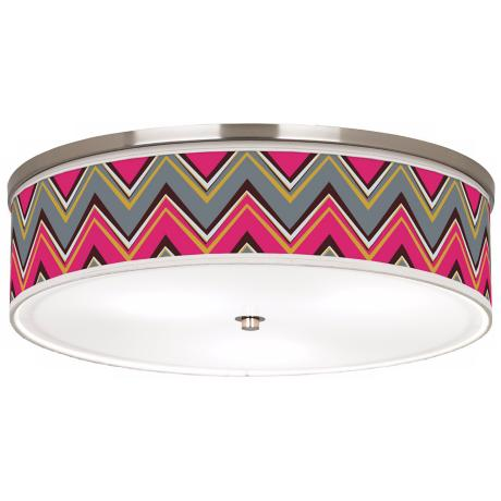 "Stacy Garcia Chevron Pink Pride 20 1/4"" Wide Ceiling Light"