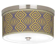 "Deco Revival Giclee Nickel 10 1/4"" Wide Ceiling Light"