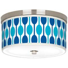 "Jet Set Giclee Nickel 10 1/4"" Wide Ceiling Light"