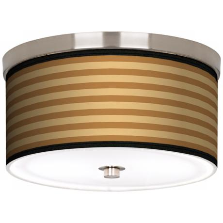 "Butterscotch Parallels Nickel 10 1/4"" Wide Ceiling Light"