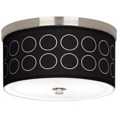 "Portholes Nickel 10 1/4"" Wide Ceiling Light"
