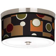 "Retro Medley Nickel 10 1/4"" Wide Ceiling Light"