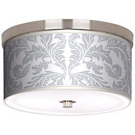 "Silver Baroque Nickel 10 1/4"" Wide Ceiling Light"