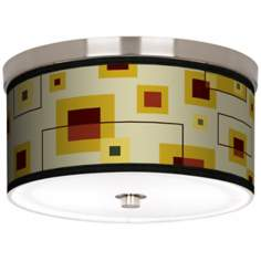 "Windows Nickel 10 1/4"" Wide Ceiling Light"