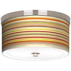 "Stacy Garcia Lemongrass Stripe 10 1/4"" Wide Ceiling Light"