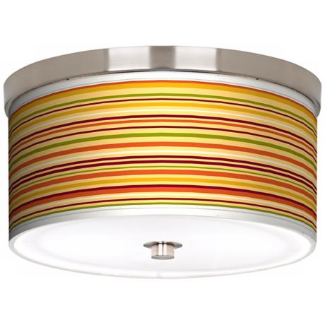 "Stacy Garcia Harvest Stripe 10 1/4"" Wide Ceiling Light"