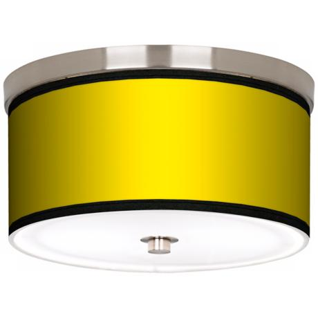 "All Yellow Nickel 10 1/4"" Wide Ceiling Light"