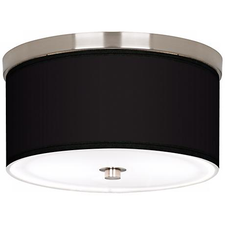 "All Black Nickel 10 1/4"" Wide Ceiling Light"